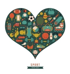Healthy Lifestyle Background I love sport hand vector image