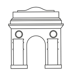 Roman construction classic isolated icon vector