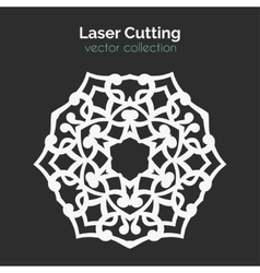 Laser cutting template round card die cut vector