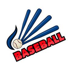baseball equipment and word vector image