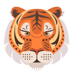 tiger head logo decorative emblem vector image