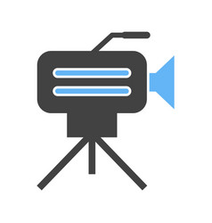 Camera on stand vector