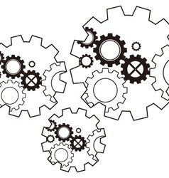 Gears metal steel high speed vector