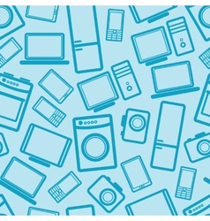 Seamless background with electronic devices vector