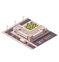 Isometric shopping mall vector