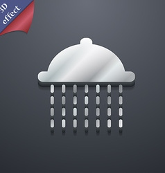 Shower icon symbol 3d style trendy modern design vector