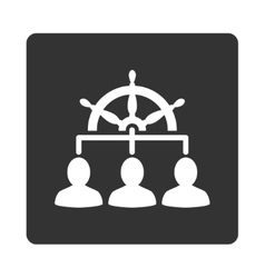 Management icon vector