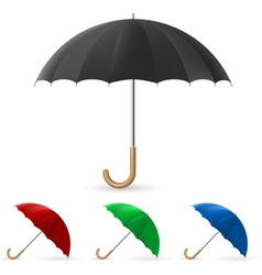 Realistic umbrella vector