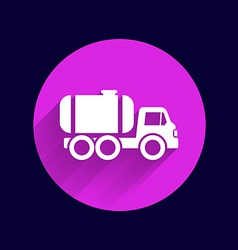 Truck auto barrel icon button logo symbol concept vector