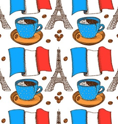 Sketch french pattern in vintage style vector