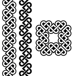 Celtic irish knots braids and patterns vector