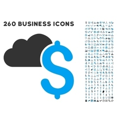 Cloud banking icon with flat set vector