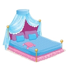 Princess bed with canopy vector