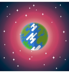 Flat icon of earth vector