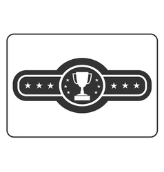 Champion belt icon 3 vector image