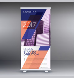 abstract roll up banner or standee design vector image vector image
