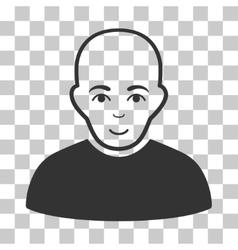 Bald man icon vector