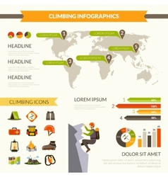 Climbing Infographics Set vector image vector image