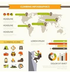 Climbing infographics set vector
