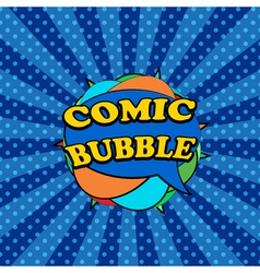 Comic bubbles in the form of clew vector image