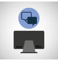 computer device bubble speech network icon vector image