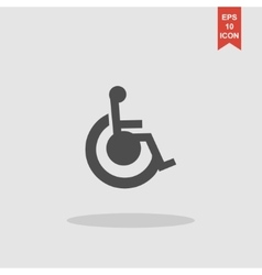 cripple Flat Simple Icon vector image vector image