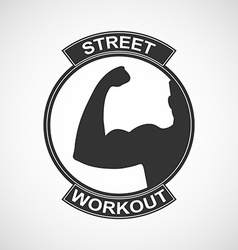 Different sports and street workout logo templates vector