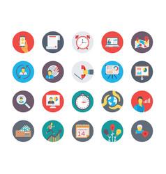 human resources flat circular icons set 2 vector image vector image