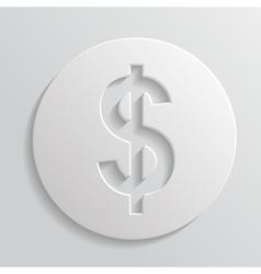 Icon dollar vector image vector image