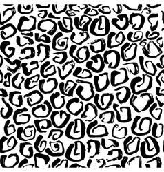 Leopard print seamless pattern vector image