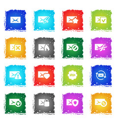 Mail and envelope icon set vector