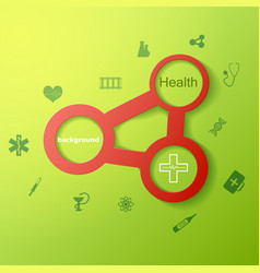 Medicine and science green background vector