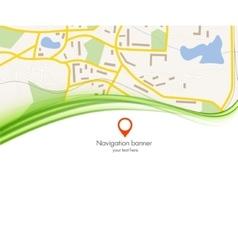 navigation background vector image vector image
