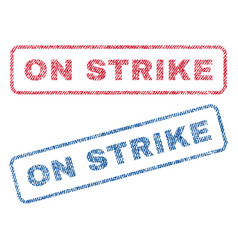On strike textile stamps vector