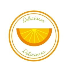 Orange icon organic food design graphic vector