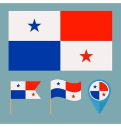 Panamacountry flag vector image