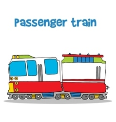 Passenger train of art vector