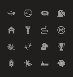 Pets - flat icons vector
