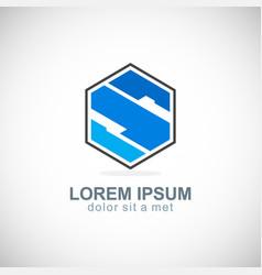 polygon letter s company logo vector image vector image