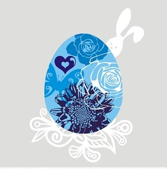 Postcard with easter egg vector