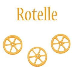 Rotelle pasta vector