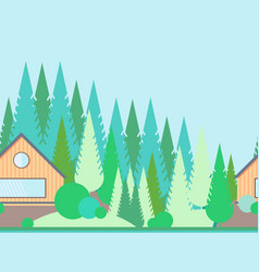 Seamless horizontal landscape in flat style vector