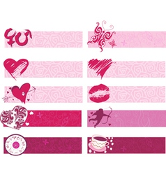 Set of borders vector image vector image
