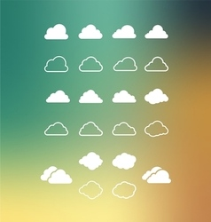 Set of Cloud vector image vector image