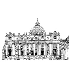 St peters cathedral rome vatican italy vector