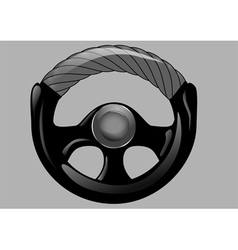 Steering wheel of car vector