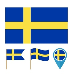 Sweden country flag vector image