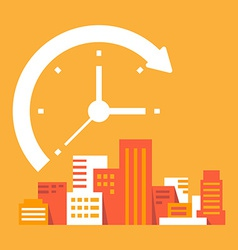 Time goes on in the city vector
