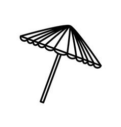 Umbrella picnic outdoor outline vector