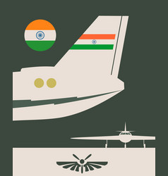 Vertical banner with the image of an airplane tail vector